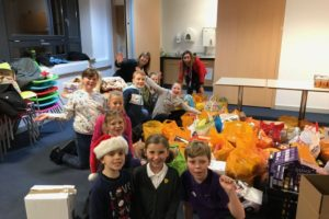 Kinross Primary School collected over 480kg of food for the foodbank for thier house event